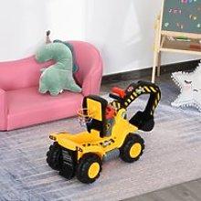 Homcom Escavatore Giocattolo per Bambini con