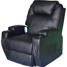 HomCom Poltrona Reclinabile Massaggiante