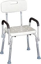 HomCom Sedia per Doccia con braccioli - Sedile da