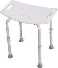 HomCom Sgabello sedile sedia per doccia bagno,