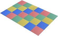 HomCom Tappeto Puzzle 24 Pezzi in EVA per Bambini