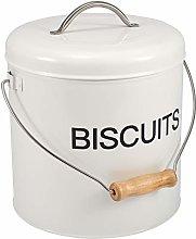 Home Basics - Contenitore in latta per biscotti,