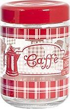 Home caffè Barattolo, 800 ml, Rosso/Trasparente,