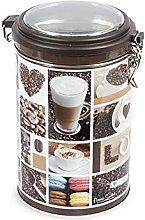Home Coffee Barattolo Tondo, 11x19 cm, Latta,