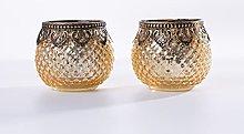 Home&Decorations Portacandela originale in vetro,