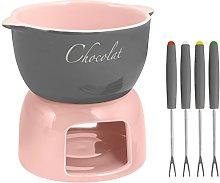 Home Set Fonduta/Cioccolato Grigio/Rosa