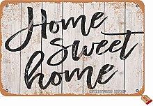Home Sweet Home Tin 20X30 cm Retro Look