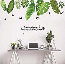 Home Tropical Jungle Foglie Verdi Adesivo Murale