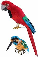HomeDecTime 2pcs Uccelli Artificiali Modello