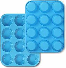 homEdge Muffin in silicone da 12 tazze, confezione
