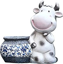 HOMHH Simpatico Vaso di Fiori per Mucche Vasi per