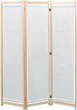 Hommoo Paravento a 3 Pannelli Crema 120x170x4 cm