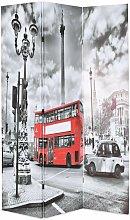 Hommoo Paravento Pieghevole 120x170 cm Stampa Bus