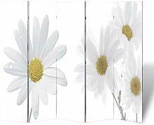 Hommoo Paravento Pieghevole 200x170 cm con Stampa