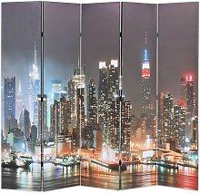 Hommoo Paravento Pieghevole 200x170 cm Stampa New
