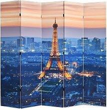 Hommoo Paravento Pieghevole 200x170 cm Stampa