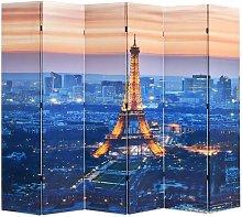Hommoo Paravento Pieghevole 228x170 cm Stampa