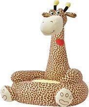 Hommoo Poltrona in Peluche per Bambini Giraffa