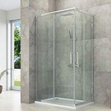House box doccia 70 x 100 cm angolo con ante