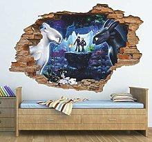 HQQPA Adesivo Effetto 3D Adesivo murale Adesivo