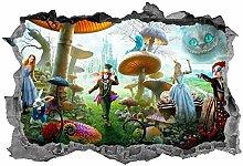 HQQPA Adesivo Effetto 3D Adesivo murale animale