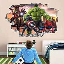 HQQPA Adesivo Effetto 3D Adesivo murale Avengers