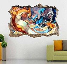 HQQPA Adesivo Effetto 3D Adesivo murale fai da te