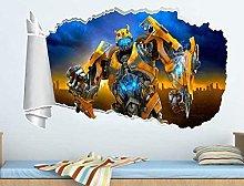 HQQPA Adesivo Effetto 3D Adesivo murale foro crepa