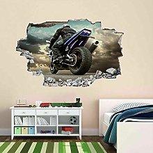 HQQPA Adesivo Effetto 3D Decorazione murale poster