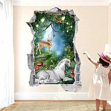 HQQPA Adesivo Effetto 3D murale murale animale