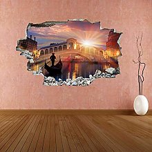 HQQPA Adesivo Effetto 3D Poster murale artistico