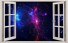 HQQPA Adesivo Effetto 3D Spazio interstellare