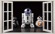 HQQPA Adesivo Effetto 3D Star Droids adesivo per