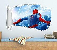 HQSM Adesivi Murali Spider 3D Buco strappato