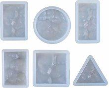 HR-COME - 6 Pezzi - Stampo in Silicone Per Resina