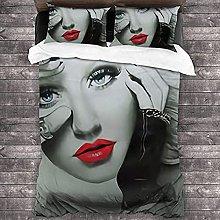 HSBZLH Flou Copripiumino Christina Aguilera Set