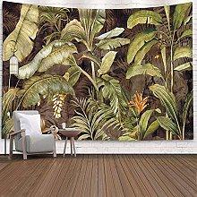 HSOLON Arazzo da parete con pianta tropicale,
