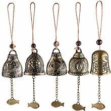 HTYG 5 Set campanelli antichi Cinesi campanelli