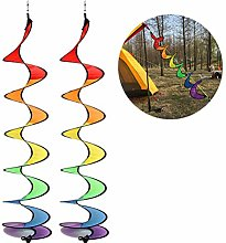 Huemny - Scacciapensieri a spirale arcobaleno, per