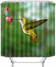 Hummingbird fiore ramo verde semplice e fresco