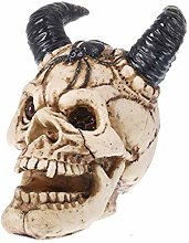 HXXyoga 14 cm Resina Skull Handmade Decoration