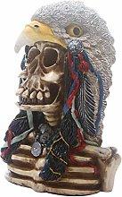 HXXyoga Creative Skull Statue Resina Scheletro