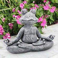 HXXyoga Decorazione giardino resina rana figurina