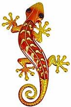 HXXyoga Home Decor Metallo Gecko Statua Animale