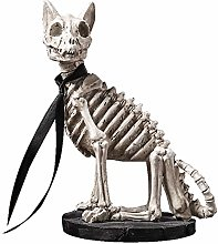 HXXyoga Modern creativo Skeleton Dog Statue Art
