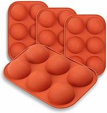 HXYA - Stampo in silicone semi-sfere, 4 confezioni