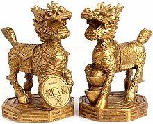 HYBUKDP sculture Decorazioni A Pair Chinese