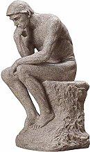 HYBUKDP sculture Grande Pensatore Statua, Resina