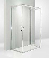HYDRA Box Doccia 3 Lati Porta Scorrevole 70x100x70