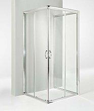 HYDRA Box Doccia 3 Lati Porta Scorrevole 75x75x75